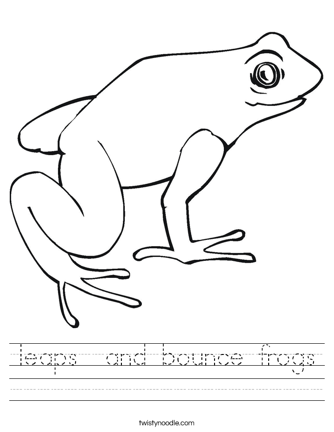 leaps  and bounce frogs Worksheet