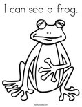 I can see a frog. Coloring Page