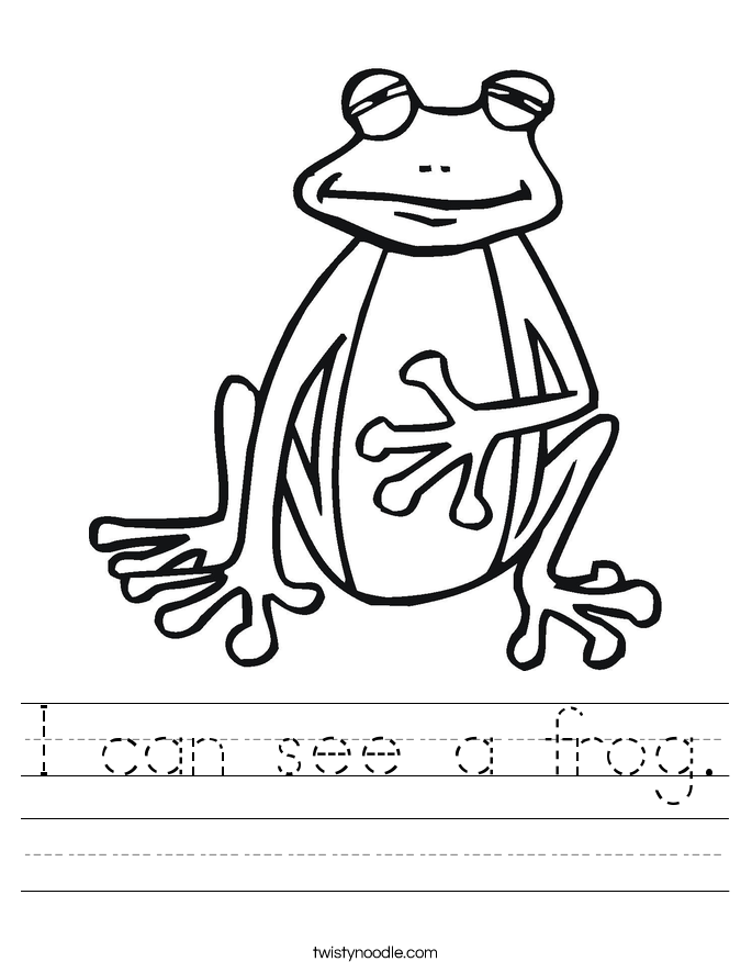 I can see a frog. Worksheet