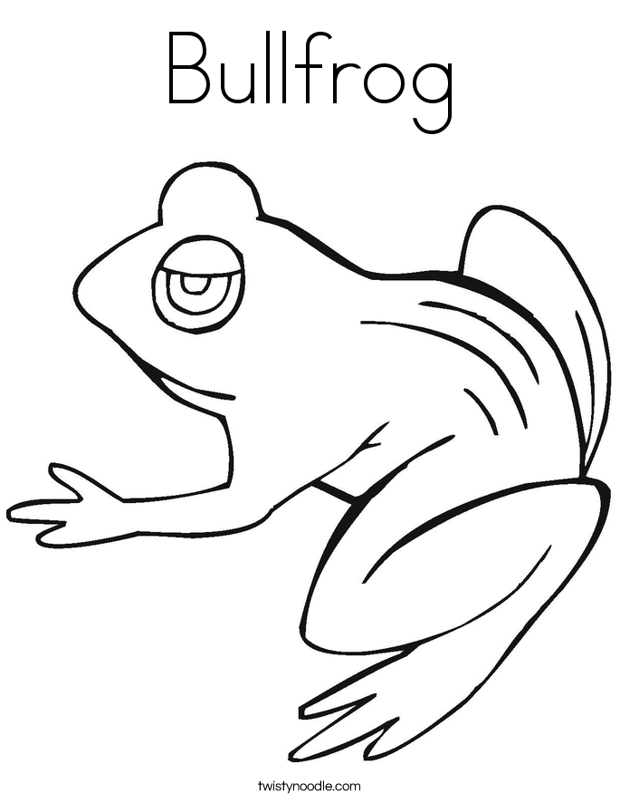Toad frog pollywog coloring pages