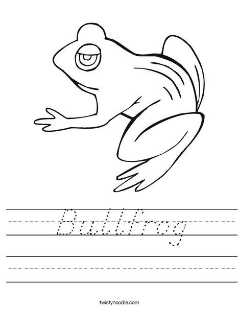 BullFrog Worksheet