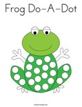 Frog Do-A-Dot Coloring Page