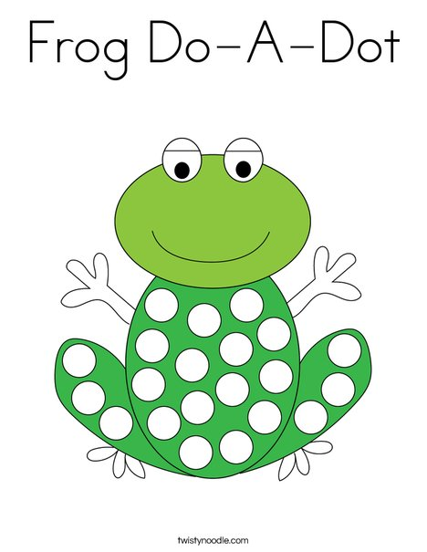 Frog DoADot Coloring Page Twisty