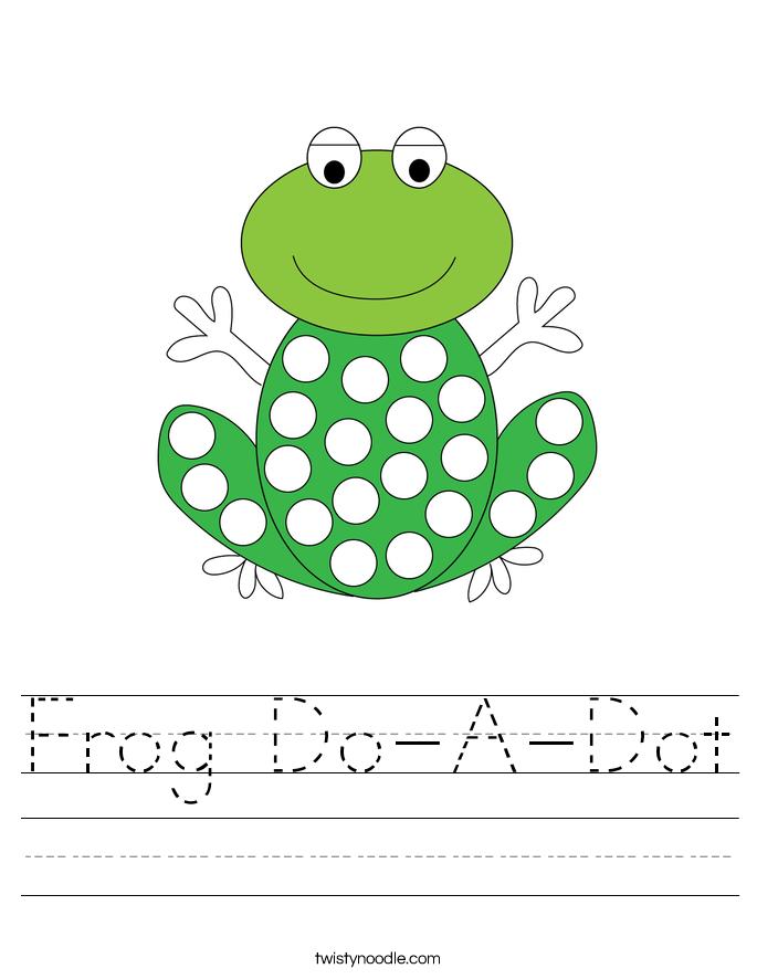 Frog Do-A-Dot Worksheet