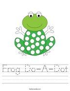 Frog Do-A-Dot Handwriting Sheet