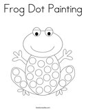 Frog Dot Painting Coloring Page