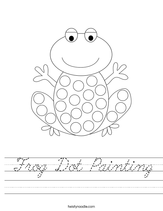 Frog Dot Painting Worksheet