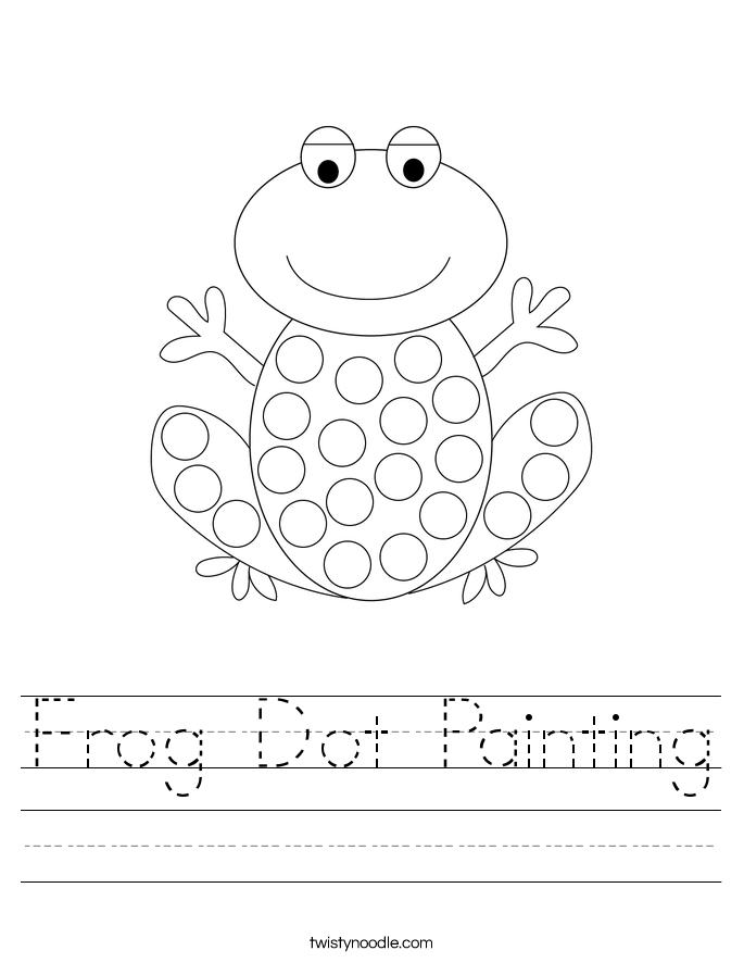 Frog Dot Painting Worksheet