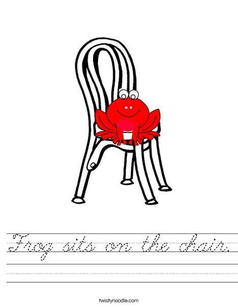 Frog on chair Worksheet