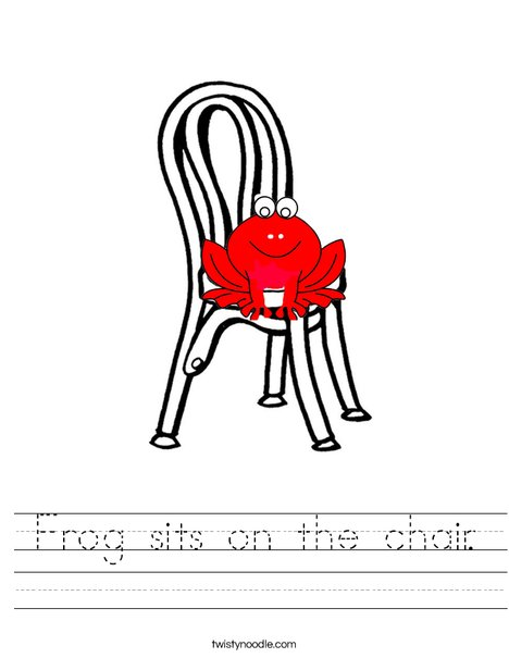 Frog on chair Worksheet
