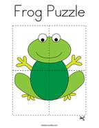 Frog Puzzle Coloring Page