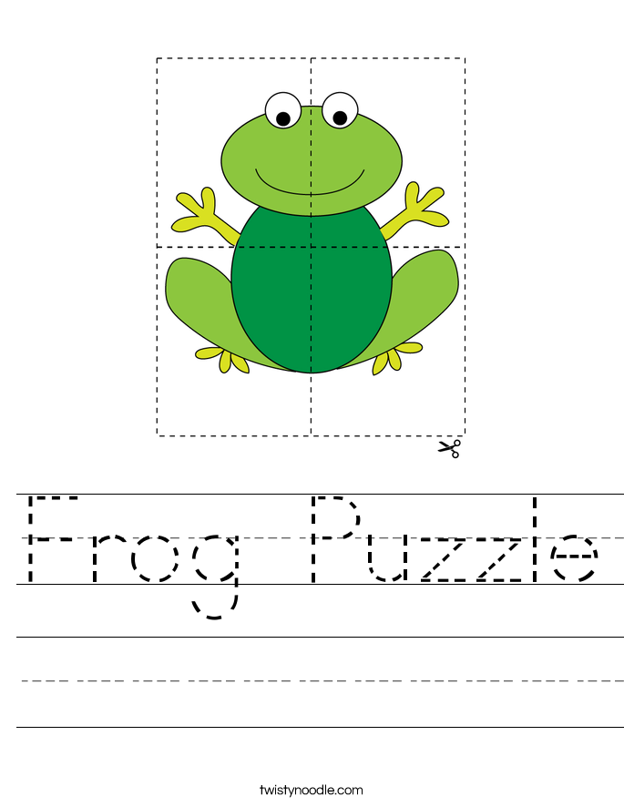Frog Puzzle Worksheet