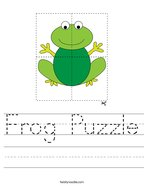 Frog Puzzle Handwriting Sheet