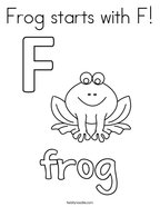 Frog starts with F Coloring Page