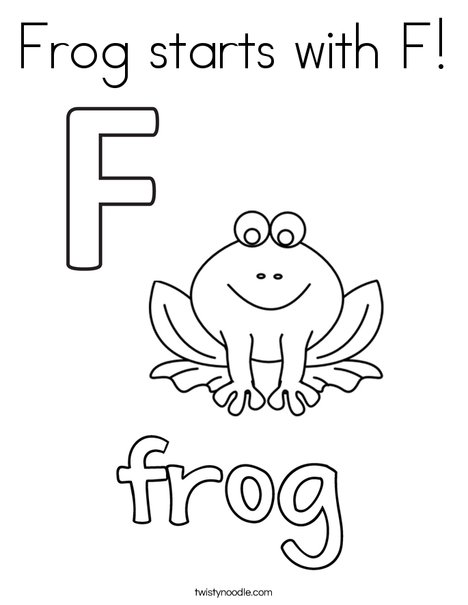 Frog Coloring Page For Kindergarten