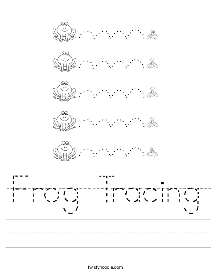 Frog Tracing Worksheet