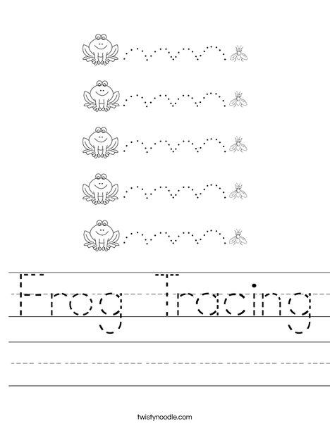 Frog Tracing Worksheet