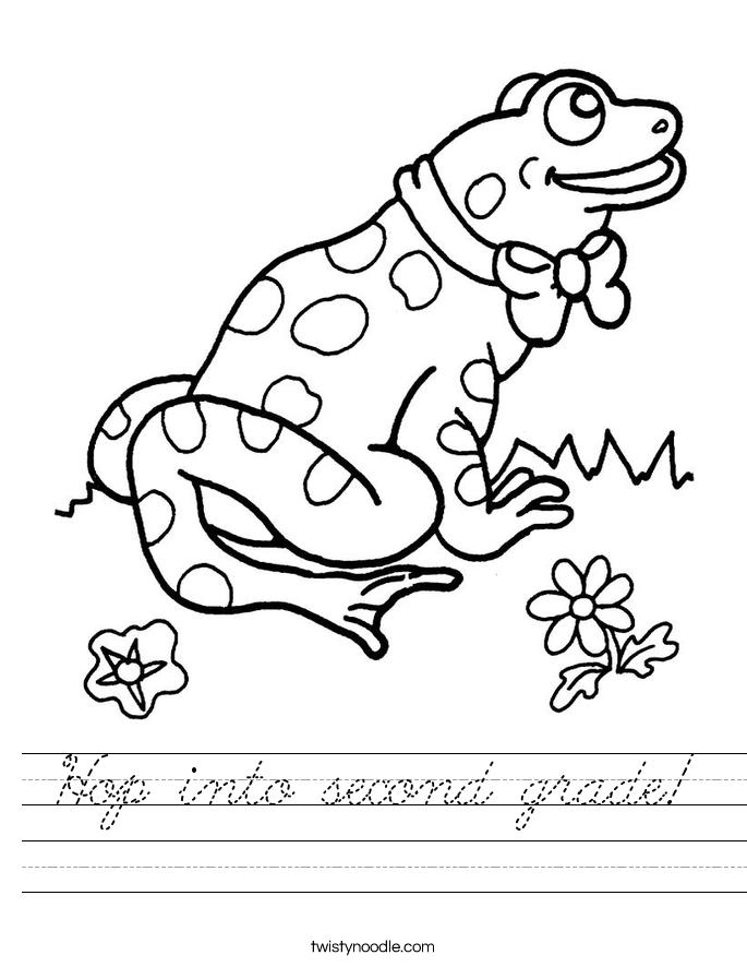 Hop into second grade! Worksheet