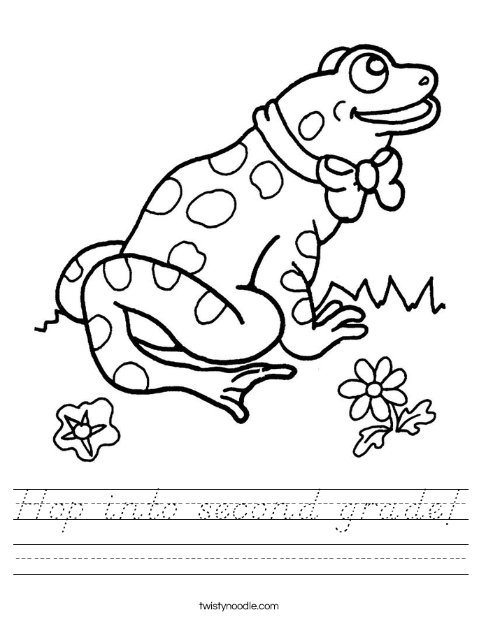 Hop into second grade! Worksheet