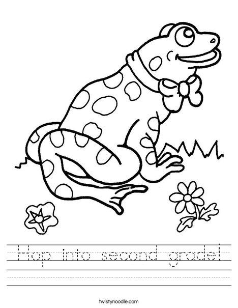 Frog with Tie Worksheet