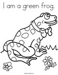 I am a green frog.Coloring Page