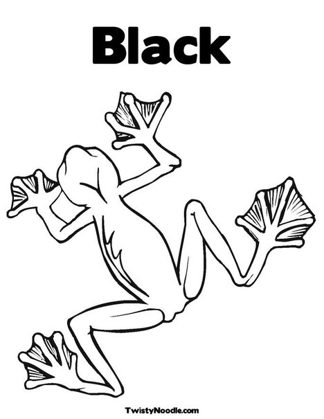tree frog coloring page. Tree Frog Coloring Page