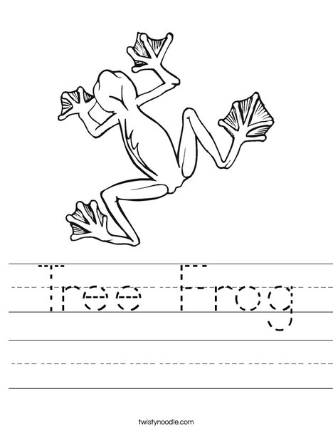 Tree Frog Worksheet