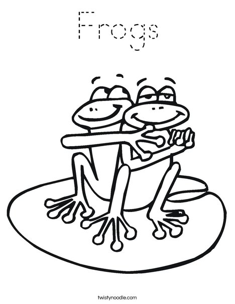 Two Frogs Coloring Page