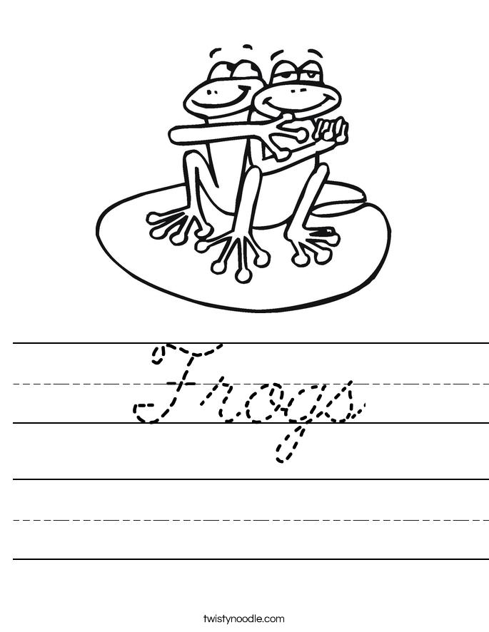 Frogs Worksheet