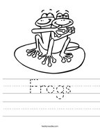 Frogs Handwriting Sheet