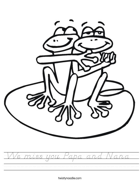 Two Frogs Worksheet