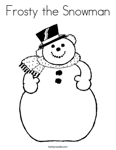 Frosty the Snowman Coloring Page Twisty Noodle