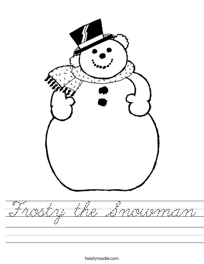 Frosty the Snowman Worksheet