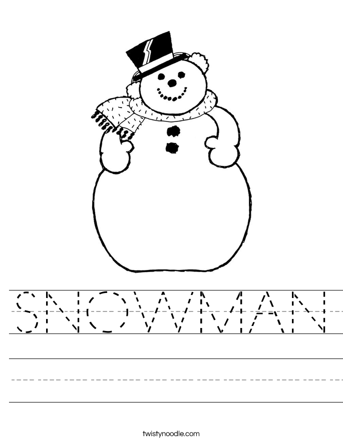 snowman worksheet twisty noodle. Black Bedroom Furniture Sets. Home Design Ideas