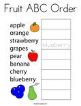 Fruit ABC Order Coloring Page