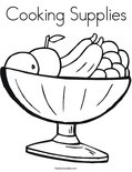 Cooking Supplies Coloring Page