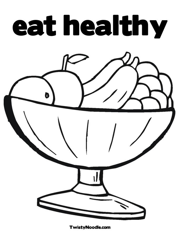 Eating Breakfast Coloring Pages