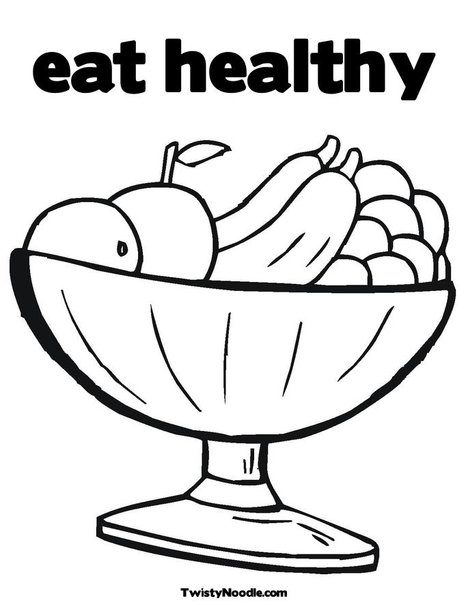eating healthy food coloring pages - photo#33