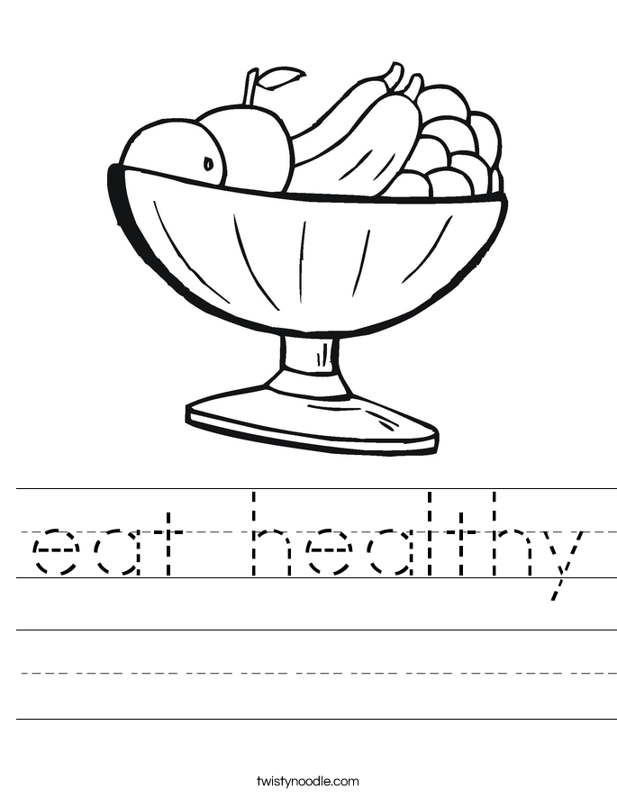 eat healthy Worksheet