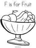F is for Fruit Coloring Page