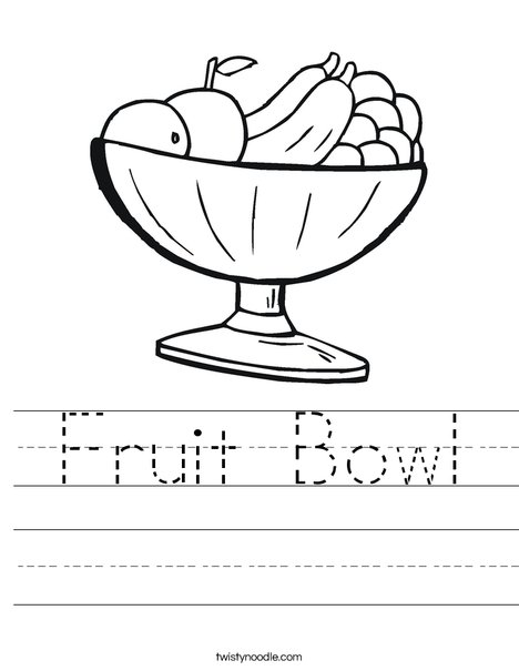 Worksheets Eating Healthy Worksheets fruit bowl worksheet twisty noodle worksheet