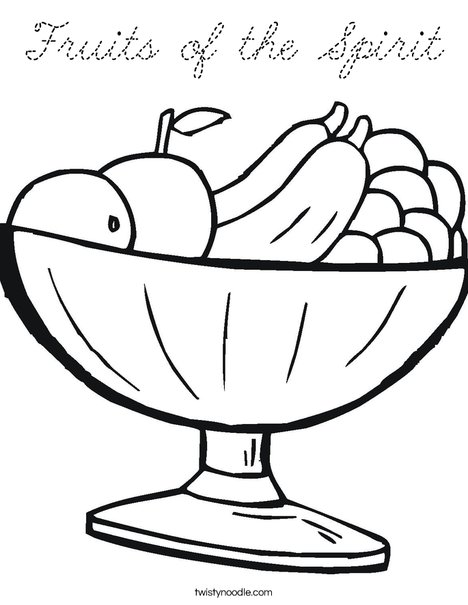 Fruit Bowl Coloring Page