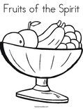 Fruits of the SpiritColoring Page
