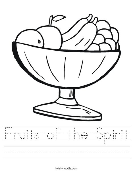 Fruit Bowl Worksheet