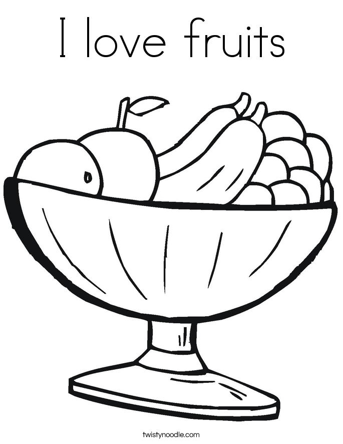 I love fruits Coloring Page