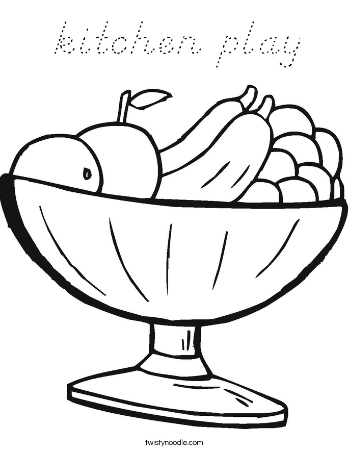 kitchen play Coloring Page