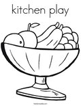 kitchen playColoring Page