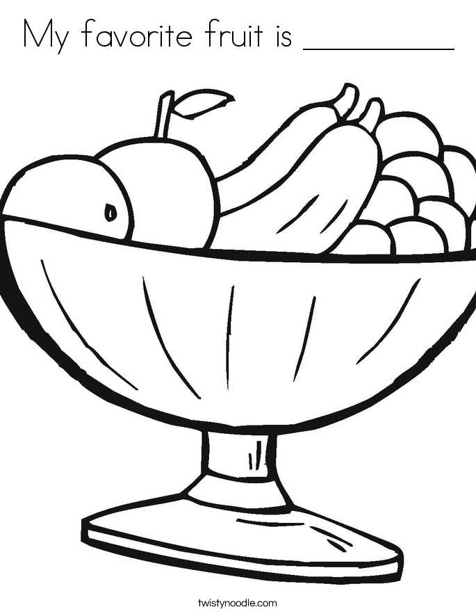 My favorite fruit is _________ Coloring Page