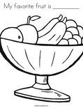 My favorite fruit is _________Coloring Page