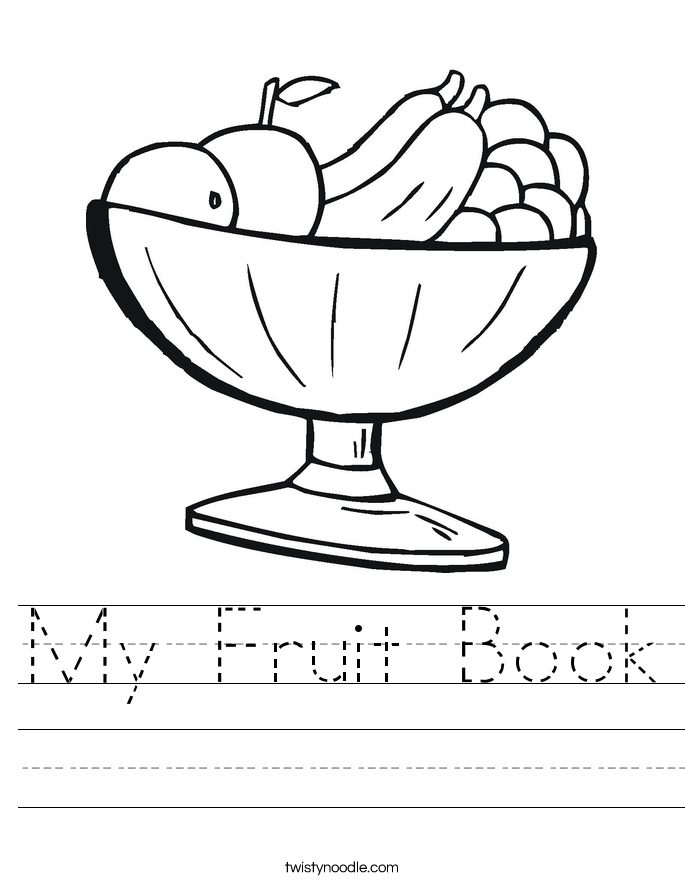 My Fruit Book Worksheet